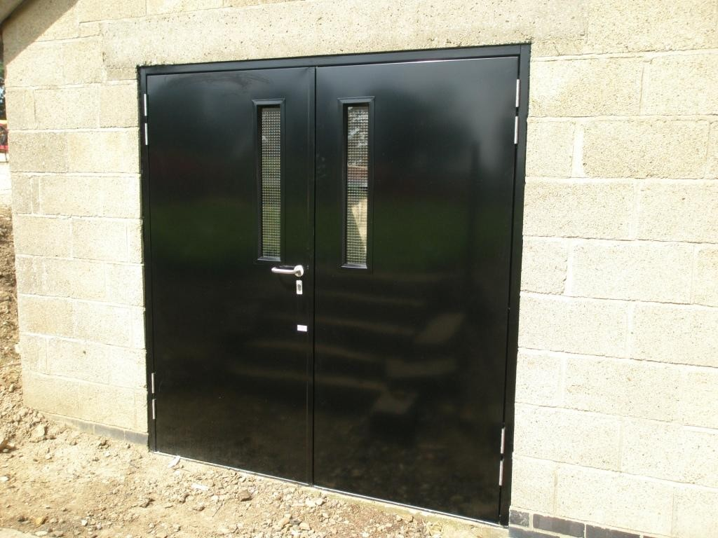 D. Commercial Grade Steel Doors